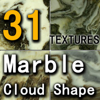 12 Marble Cloud Shape