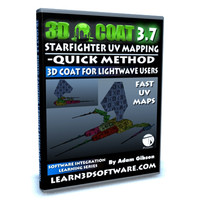 3D Coat 3.7 for Lightwave Users- UV Mapping a Starfighter-Quick Method