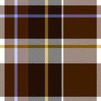 Brown Tartan Fabric Seamless Pattern