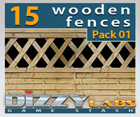 DLWOOD ArchitecturalParts Fence Pack 01