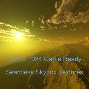 Rugged Terrain Sunrise Skybox High Resolution