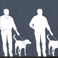 2D Person Man with Dog 01285se