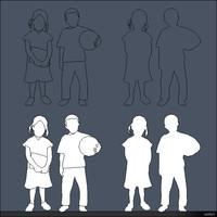 2D Person Kids 01286se