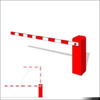 Barrier Automatic Folding Arm 01306se