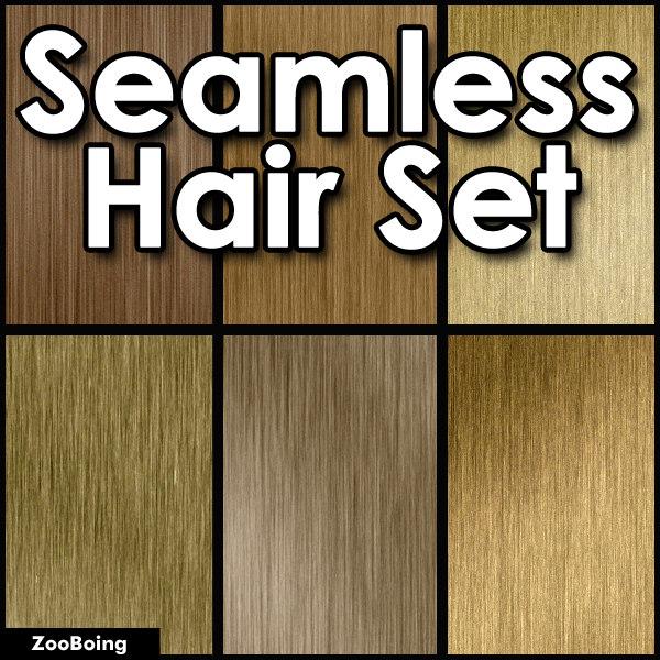 Set 024 - 7 Hair Textures
