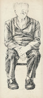 front view, old man