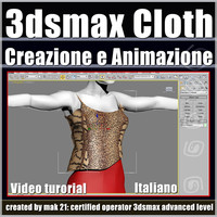 3dsmax 8.0 Create Cloth & animate Italiano cd front