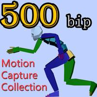 500 Motion Capture Collection BIP