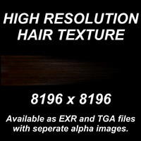 High Resolution Hair Texture - Dark Brown