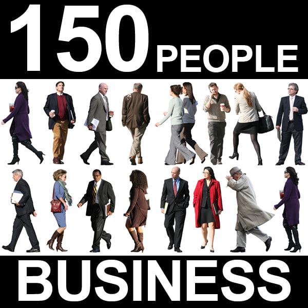 150 Business People Textures - Bundle