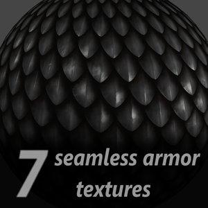 7 seamless armor textures