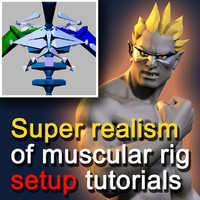 Super realism of muscular rig setup