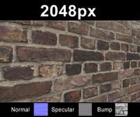 Brick 04 Old Wall - Set