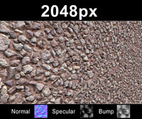 Gravel Wall 01 - Set