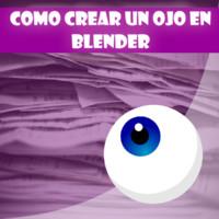 Como crear un ojo en Blender
