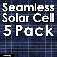 Set 014 - 5 Solar Cells Textures