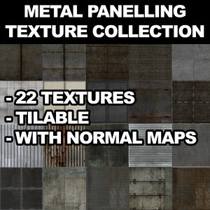 22 Metal Panelling Texture Collection