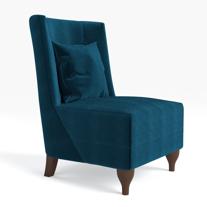 3d model of baker lounge chair for Chair 6 mt baker