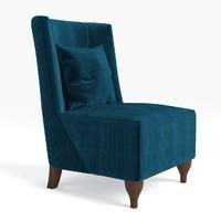 3d model of baker lounge chair