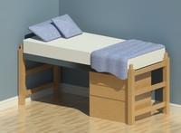 Adden Dorm Furniture- Bed