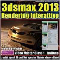 3dsmax 2013 Rendering Interattivo_v.1 italiano_cd front