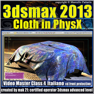 3dsmax 2013 Cloth in PhysX v.4.0 Italiano_cd front