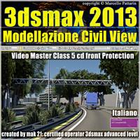 3dsmax 2013 Civil View v.5 cd front