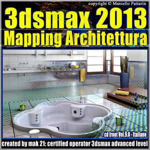3dsmax 2013 Mapping Architettura v.9.0 Italiano cd front
