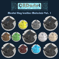 CADartet Mental Ray Leather Materials Vol1