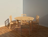 Kingston Outdoor Dining Table with Chairs