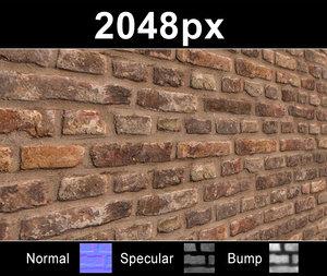 Brick 02 Old Wall - Set