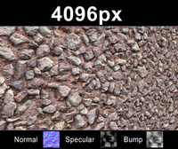 Gravel Wall 01 - Hi Res Set
