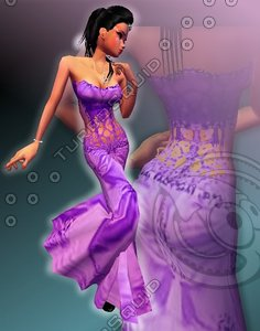 [test] Purple Fairy Dress