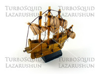 Ship model studio photo