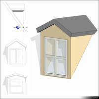Dormer Gabled Roof 01416se