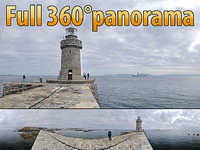 Lighthouse of St. Peter Point - 360° panorama