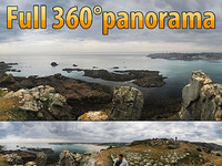 Coast of Jersey island - 360° panorama