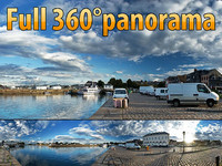 Honfleur quay - 360 panorama
