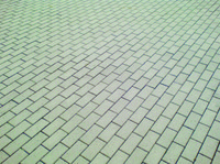 detail photography of grey pavement bricks