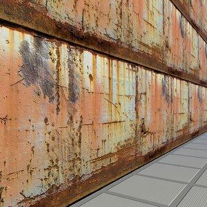 Rusty metal panel - High quality, Seamless