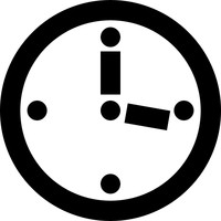 Clock with hands preloader