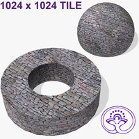 Stone wall tile A