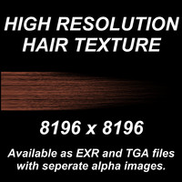 High Resolution Hair Texture - Light Red