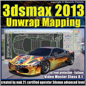 3dsmax 2013 Unwrap Mapping v.8.1 Italiano cd front