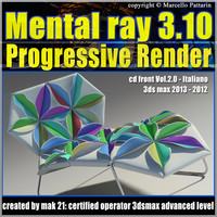Mental Ray 3.10 3dsmax 2013 Vol.2 Progressive Rendering cd front