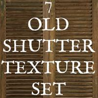 7 Old Shutter Texture Set