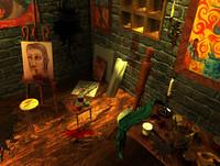 3d paint scene