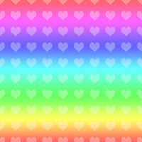 Rainbow Hearts Pattern