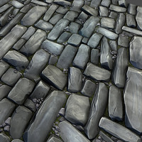Stone road tile 01
