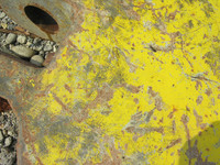 yellow metal rust